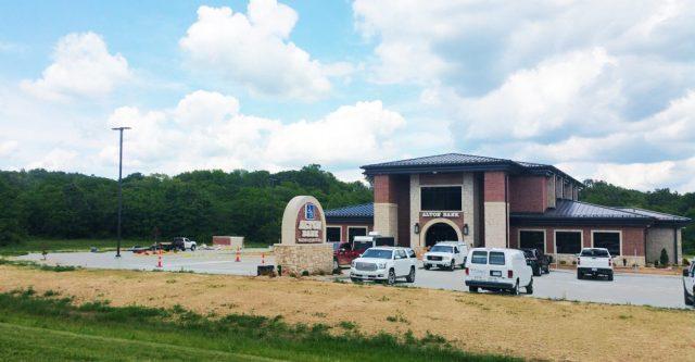 Alton Bank's relocated bank in Alton, Missouri.