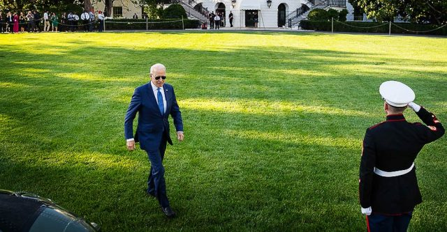 President Joe Biden prepares to board Marine One on the South Lawn of the White House, Friday, June 25, 2021.