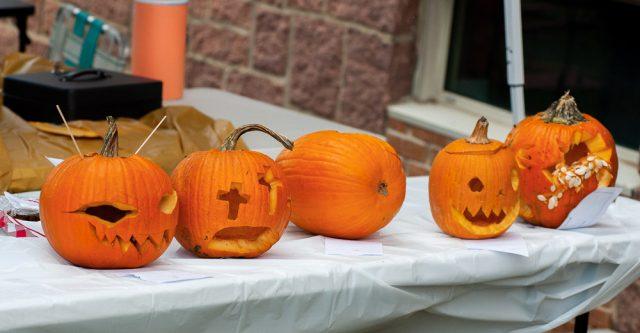 Winners of the pumpkin carving contest 2021